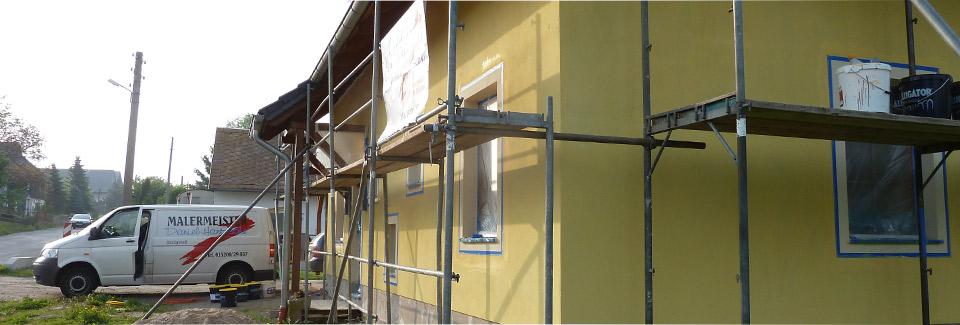 Fassadenarbeiten in Radeberg