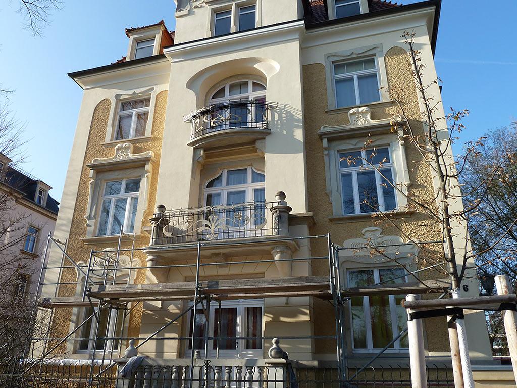 Fassadenerneuerung Jugendstilvilla Dresden